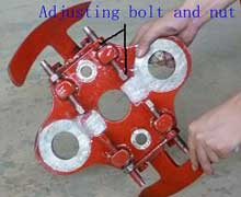 Adjusting bolt and nut