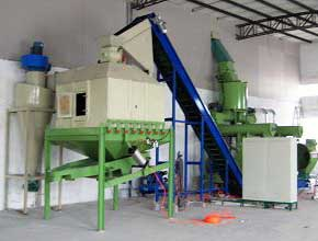 cooling and sifting system