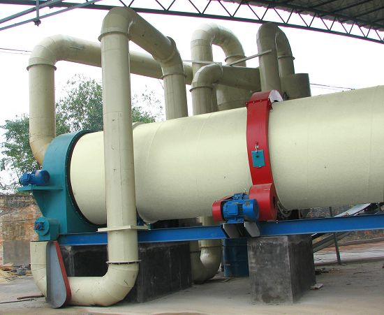 Drying system of wood pellet plant