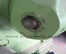 Safety pin clamping spring