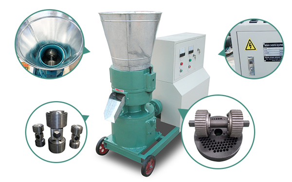 components of flat die pellet machines