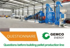 Questions before building pellet production line