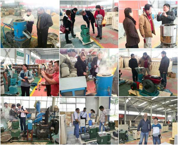 sawdust pellet machine customer visit