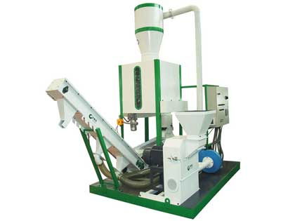 Small mobile pelletizing plant
